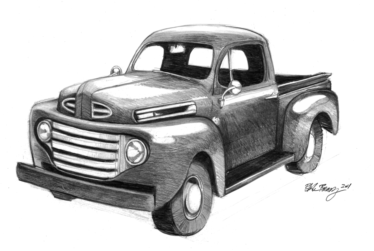 1948 ford truck drawing